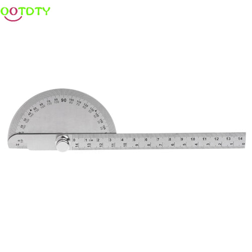 0-180 Degree Angle Ruler Round Head Rotary Protractor Adjustable Universal Stainless Steel Measuring Tool  828 Promotion