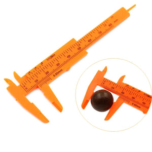 1 Piece 80mm Orange Mini Plastic Slide Vernier Caliper Pressure Gauge Measuring Instrument Size, Measuring Tool