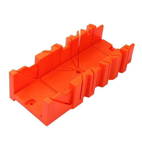Multifunctional Miter Saw Box Cabinet 0/22.5/45/90 Degree Saw Guide Woodworking Orange 12inch Mitre box architectural tool sets