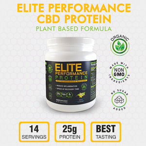 Elite Performance CBD Protein - Vanilla 14 Servings