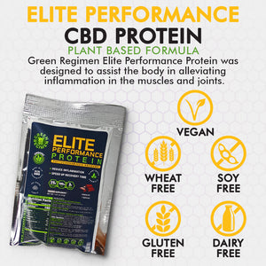 Elite Performance CBD Packet Protein - Chocolate 1 Serving
