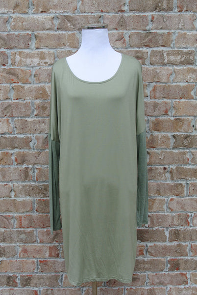 Anywhere Dolman Dress- Sage