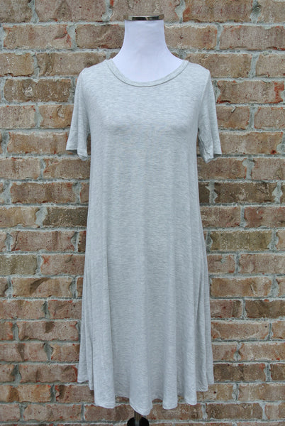 Grace Tunic Dress- Heather Grey