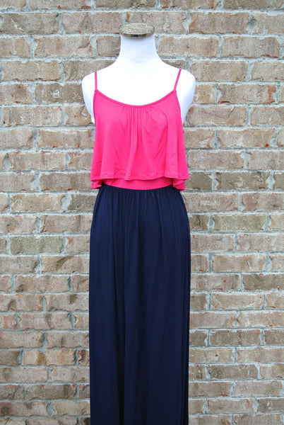 Paradise Maxi- Pink and Navy