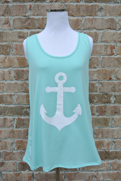Anchor Down- Aqua