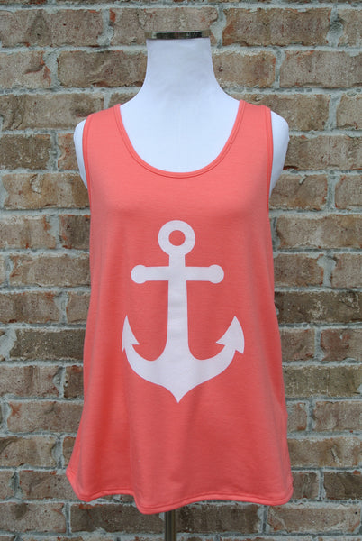 Anchor Down- Coral
