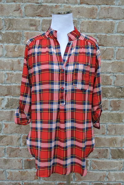 By the Fire Tunic- Red