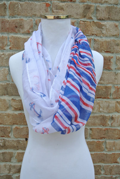 Nautical Scarf- Royal