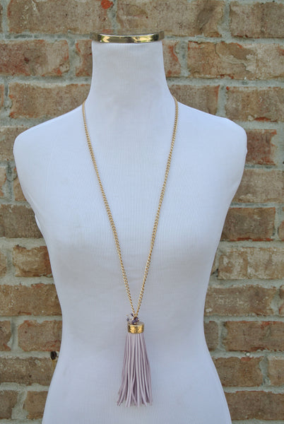 Ever Ours Tassel Necklace- Violet