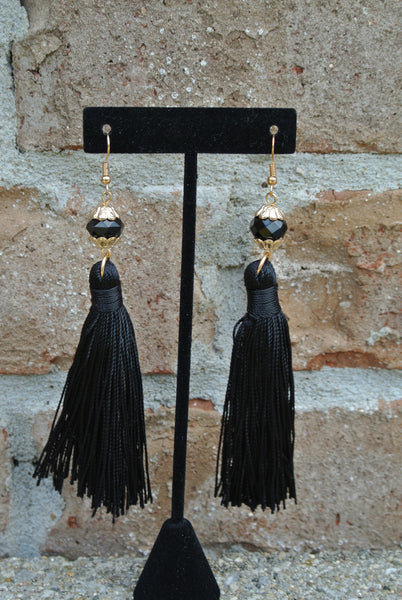 Helene Earrings- Black