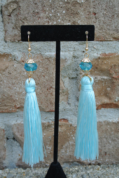 Helene Earrings- Light Blue