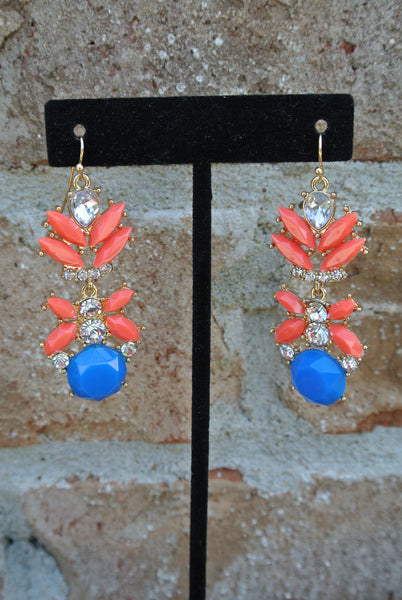Wilson Statement Earrings- Salmon