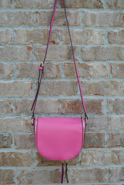 Pop of Pink Crossbody Bag