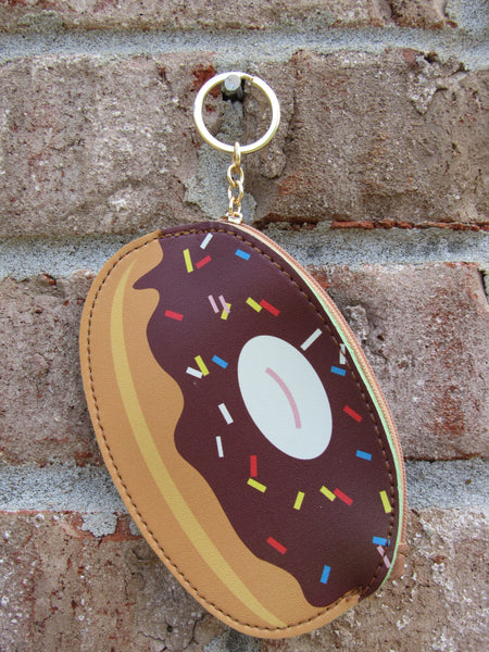 Chocolate Donut Zipper Keychain