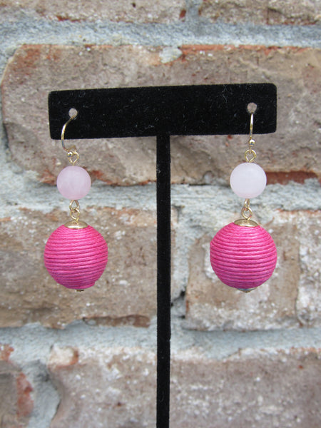 Having A Ball Earrings- Pink