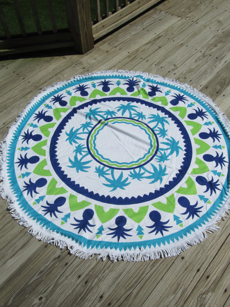 Tropical Beach Mat- Blue Green