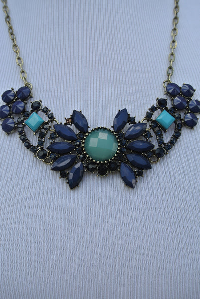 New Day Necklace- Blue
