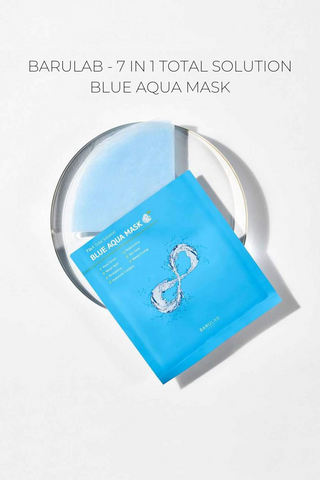BARULAB - 7 IN 1 TOTAL SOLUTION BLUE AQUA MASK - 10PC