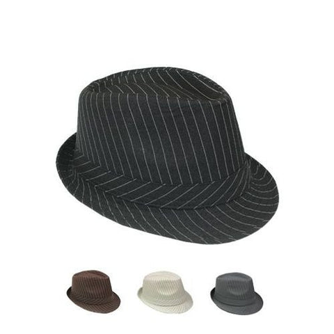 Mixed Child size FELT PINSTRIPE FEDORAs
