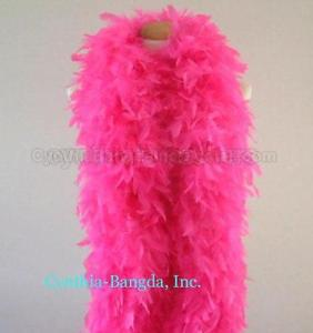 Pink Feather Boa with led lights