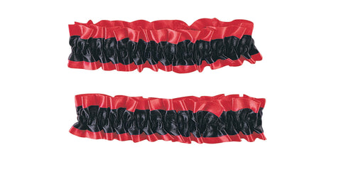 Red and Black Garter Armbands