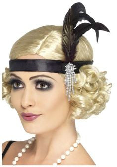 Flapper Headband Black PKG