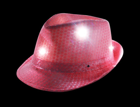 LED  light up Pink Fedora