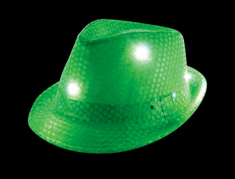LED  light up Green Fedora