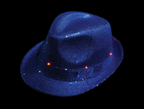 LED  light up Blue Fedora