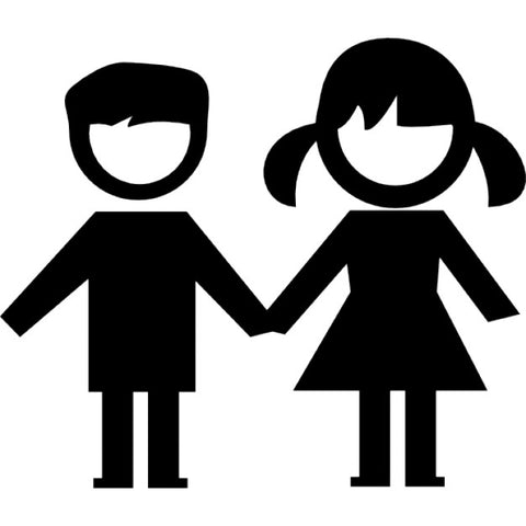 Boy and Girl Child Icon
