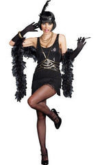 Women in Black Flapper costume