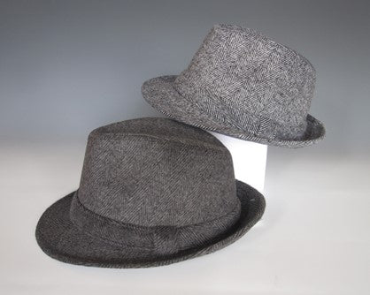 MIXED FELT FEDORAS