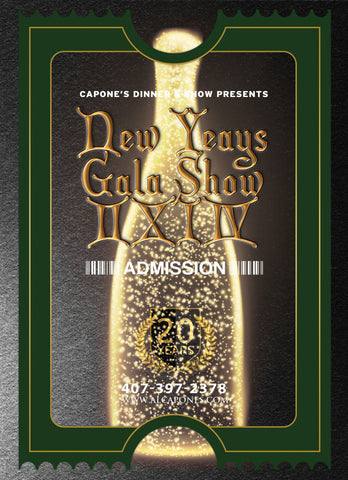 New Years Gala Show Tickets 9:00 PM