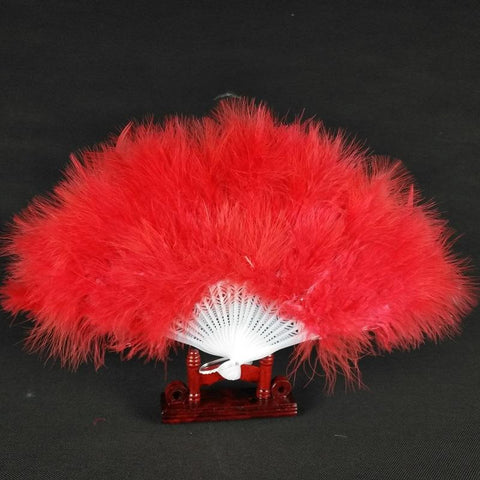 Red Flapper Fan