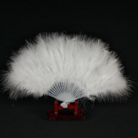 White Flapper Fan