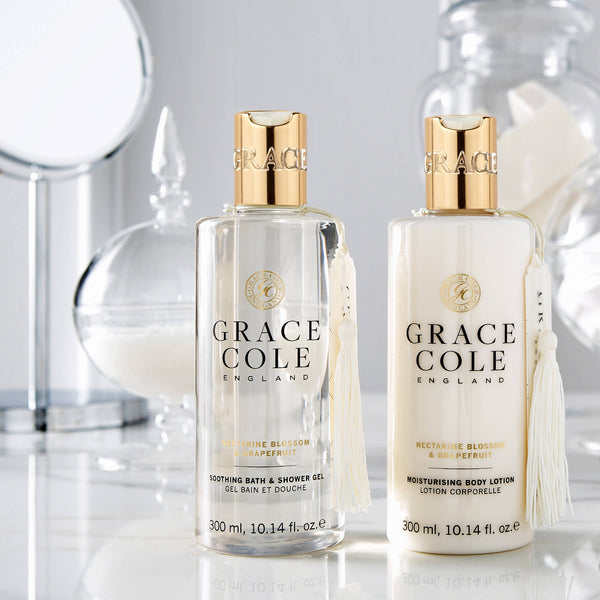 Nectarine Blossom & Grapefruit Soothing Bath & Shower Gel | Grace Cole
