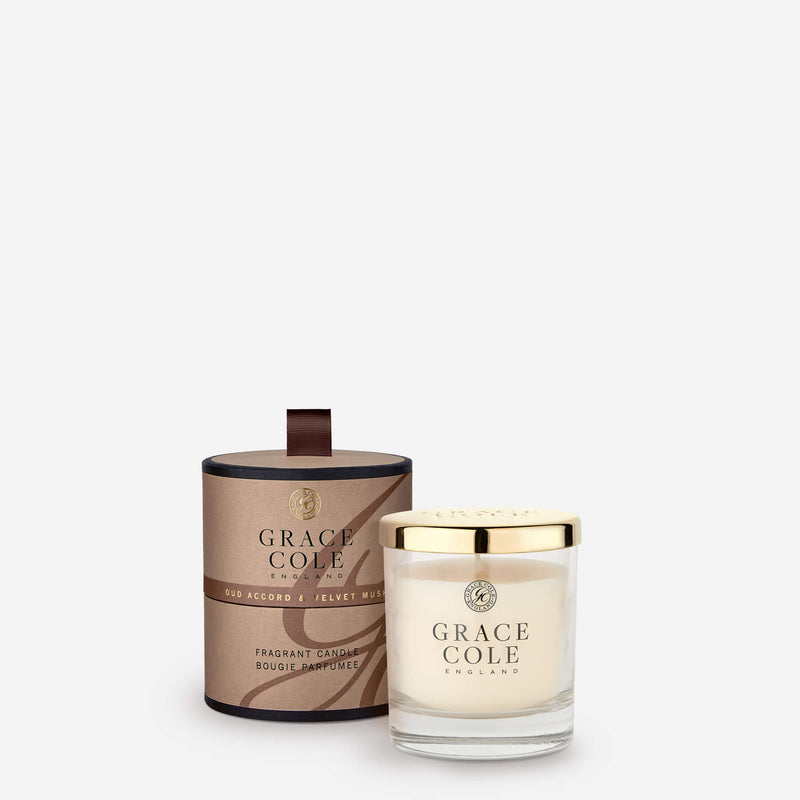 Oud Accord & Velvet Musk Fragrant Candle