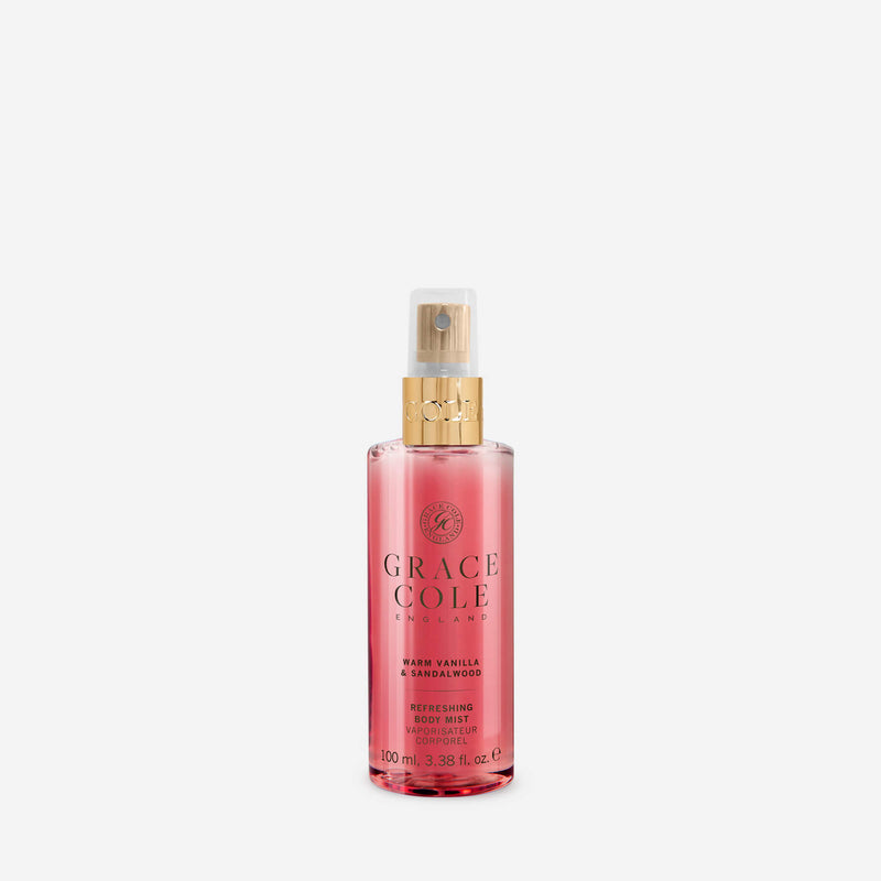 Warm Vanilla & Sandalwood Refreshing Body Mist Travel Size