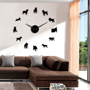 Large art Wall Clock of Dogs