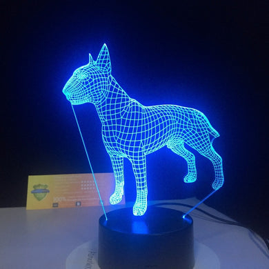 Night 3D Lamp in Amazing 7 Alternating colors