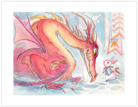 """Dealing with Dragons"" Art Print by Casey Robin"