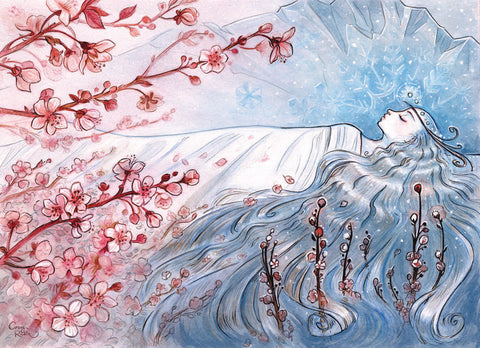 """Sleeping Spring"" Art Print by Casey Robin"
