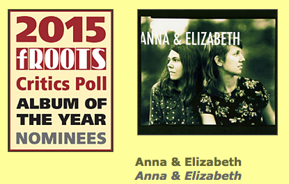Anna & Elizabeth nominated for Best New Album by fRoots