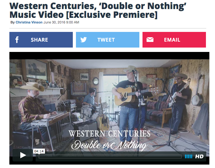 "Western Centuries ""Double or Nothing"" Video Premiere"