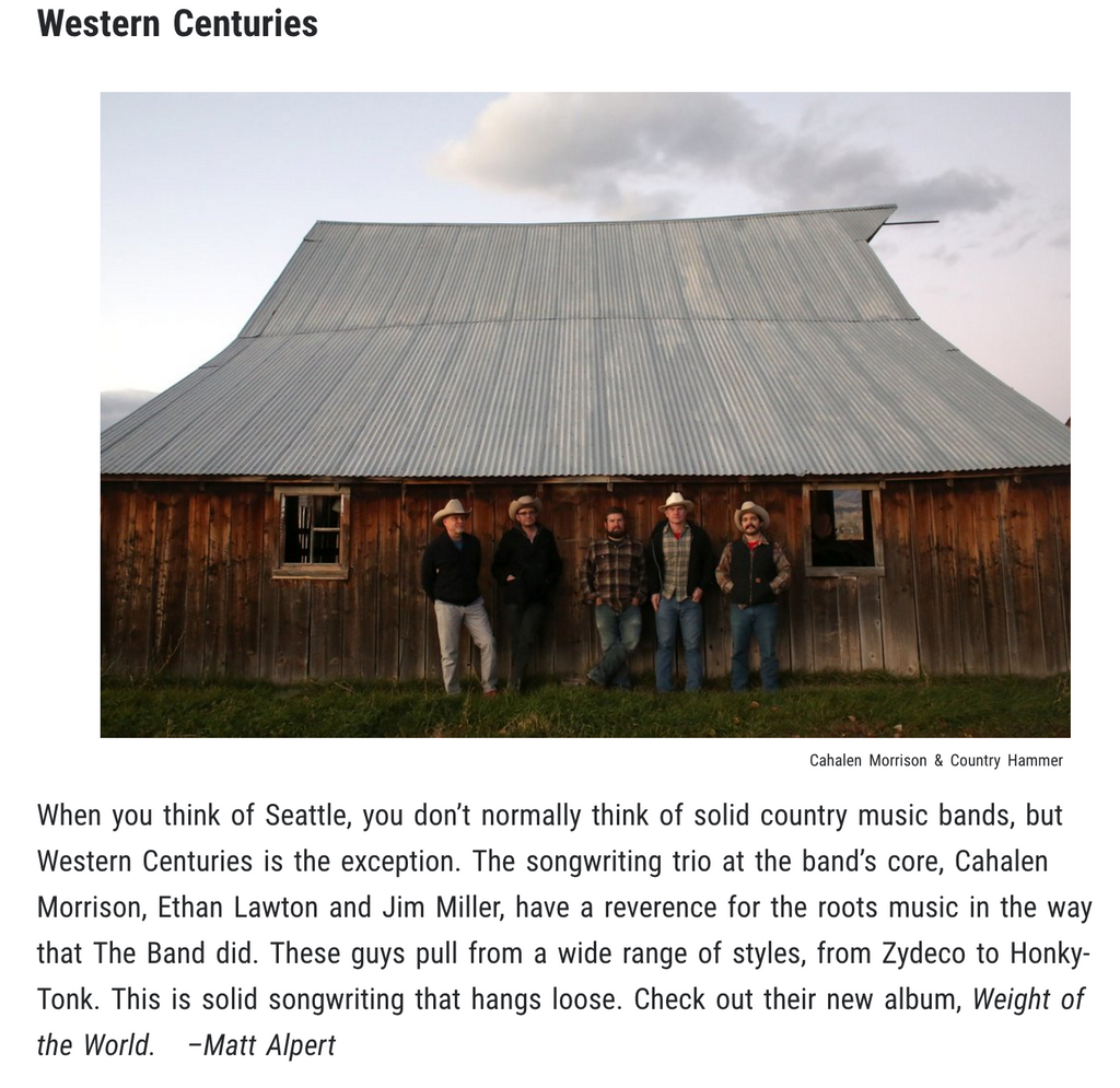 "Western Centuries Included On Wide Open Country's ""8 Rising Artists You Need To Know"""