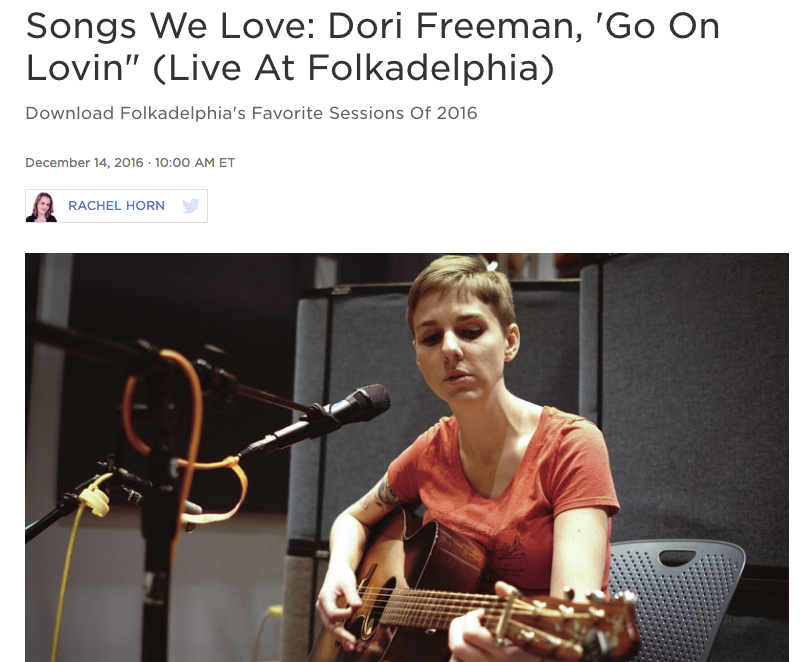 "Dori Freeman Featured on NPR's ""Songs We Love"""