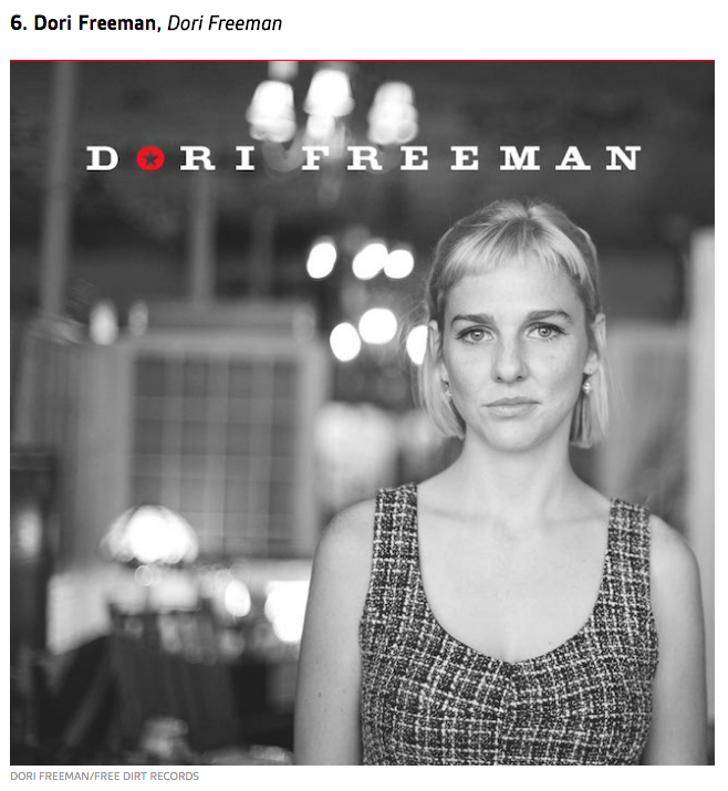 Dori Freeman #6 on Uproxx's Best Country Albums of 2016