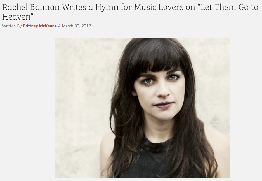 "American Songwriter Premieres Rachel Baiman's Live Video for ""Let Them Go To Heaven"""