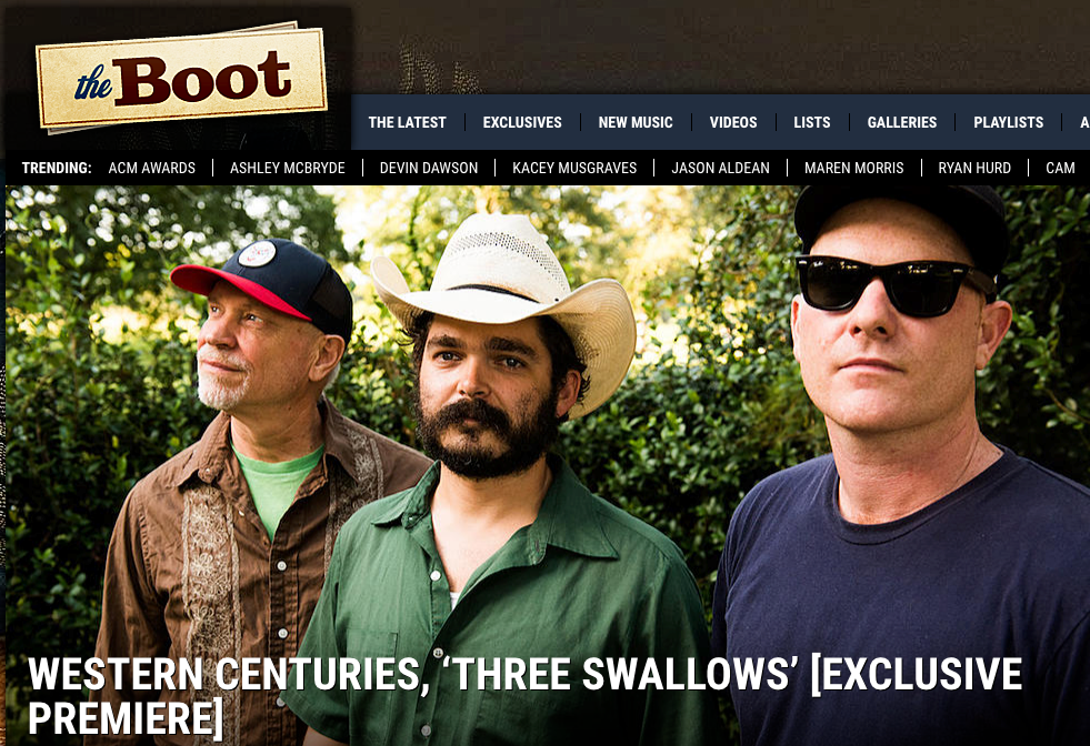 "The Boot Premieres New Western Centuries Track ""Three Swallows"""
