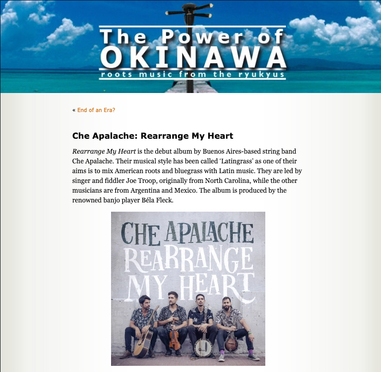 Listen to Che Apalache's new Japanese-influenced song 春の便り (The Coming of Spring)